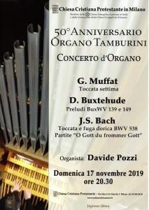 045_locandina concerto 50 Anniversario Organo Tamburini_17nov2019